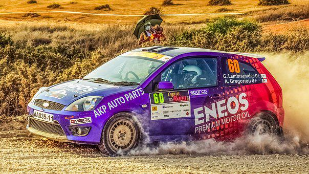 Rally, Race, Car, Spectators, Speed, Fast, Action