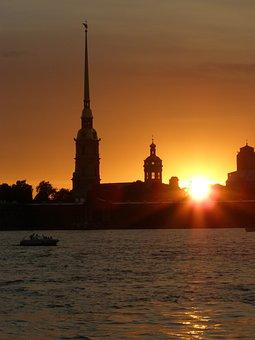 Sunset, Architecture, Famous Place, Dusk, Cityscape