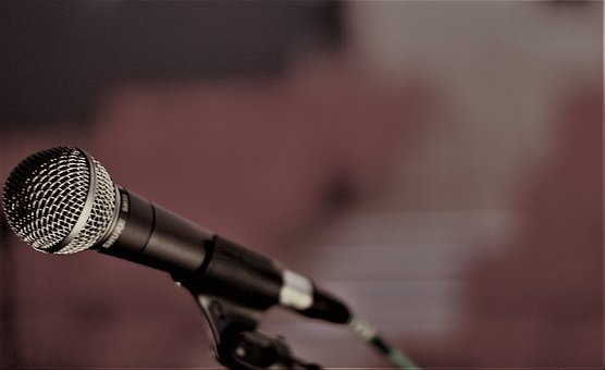 Microphone, Stage, Technology, Live, Singing, Music