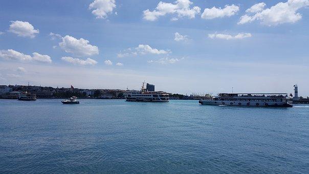 V, Marine, Turkey, Port, Sky, Beach, Ship, Landscape