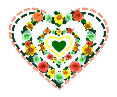 Heart, Love, Roses, Valentine's Day, Romance, Romantic