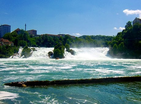Rhine Falls, Waterfall, Roaring, Water, River