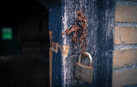 Lock, Rusted, Barn, Shed, Iron, Vintage, Padlock