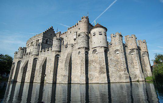 Ghent, Castle, Medieval, Building, Old, Belgium, Europe