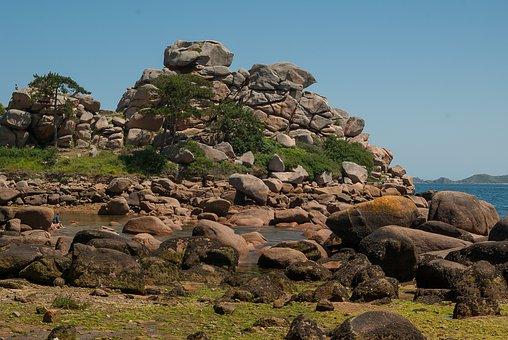 Brittany, Ploumanach, Pink Granite, Erosion