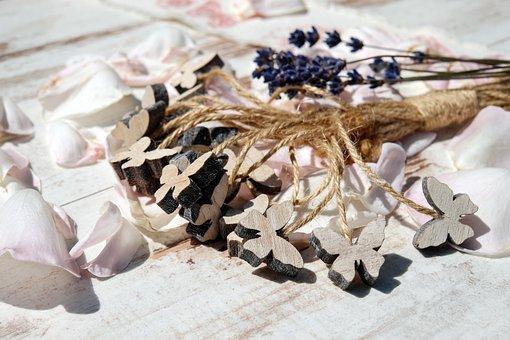 Butterflies, Wood, Decoration, Art, Ornament