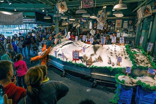 Seattle, Pike, Market, Fish, Throwing, Washington