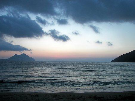 Sunset, Amorgos, Egiali, Cyclades, Greece, Hellas