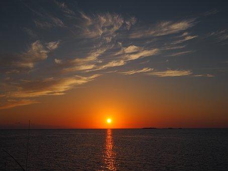 Sunset, Ocean, Water, Sun, Sea, Nature, Sky, Sunrise