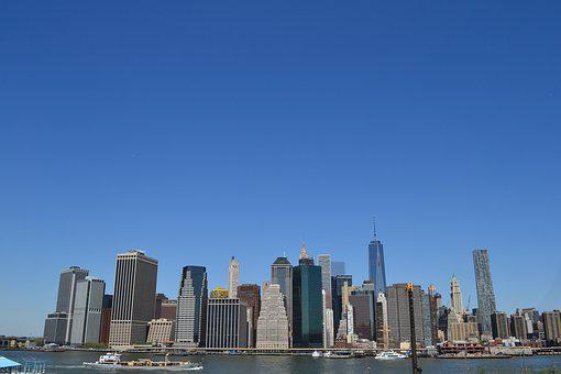 Manhattan, Skyline, Landscape, Neew York, Buildings