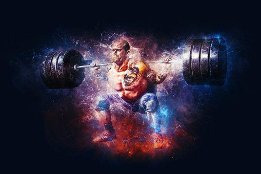 Weightlifting, Power, Fitness, Gym, Workout, Training