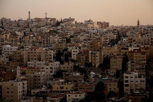 Amman, Jordan, Sunset, City, Arab, East, Architecture