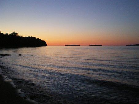Beach, Sunset, Serene