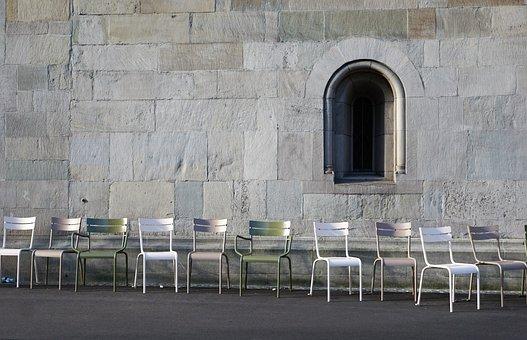 Church, Zurich, Switzerland, Chair, Faith, Religion