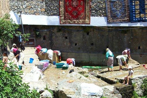 Chefchouen, Wash, Washing Women, North Africa, Morocco