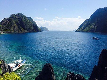 Philippines, Ocean, Summer, Travel, Sea, Beach