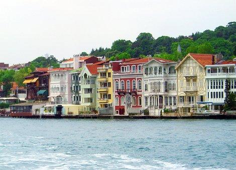 Bosphorus, Turkey, Istanbul, Homes, Houses Facades