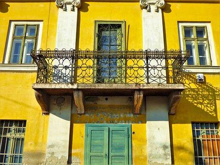 Window, House, Wall, Balcony, Building, Old, Door