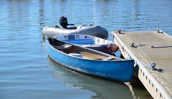 Canoe, Outboard Motor, Dingy, Boat, Water, Motor