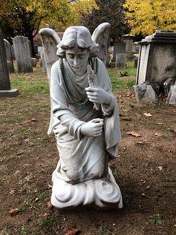 Fallen Angel, Cemetery, Grave, Angel, Stone, Statue