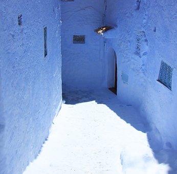 Chefchouen, Morocco, North Africa, Alley, Blue, Village