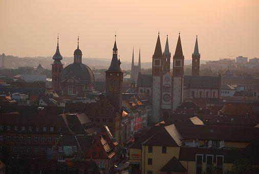Churches, Skyline, Germany, Cathedral, Church, City