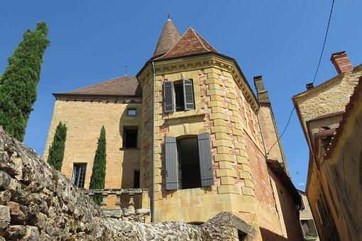 Village, Périgord, Dordogne, Lubéron, France, Castle