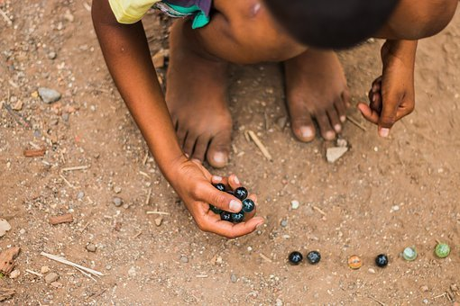 Kid, Game, Indian, Marbles, Play, Child, Fun, Happy