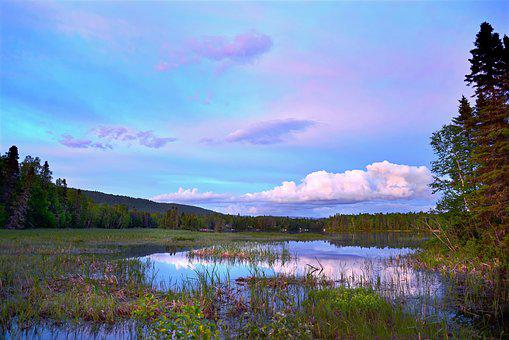 Landscape, Nature, Holiday, Summer, Lake, Clouds