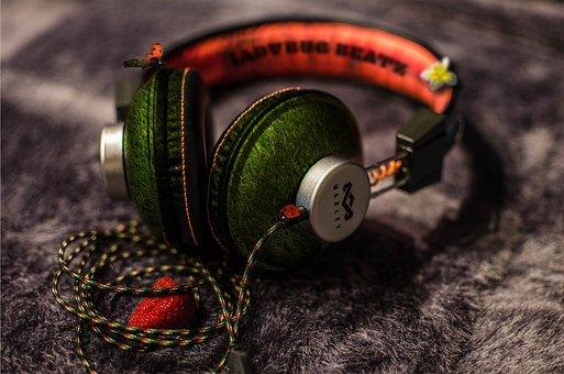 Music, Headphones, Earphones, Audio, Mp3, Listen, Sound