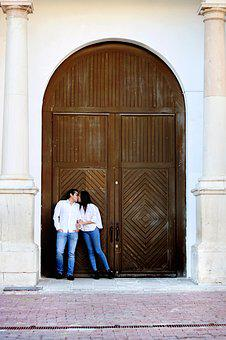 Couple, Church, Love, Happy, Man, Woman, Together