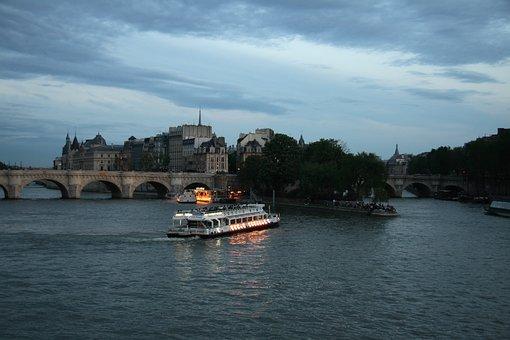Seine, Paris, Boat, River, France, City, Travel, Europe