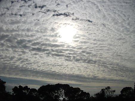 Sky, Clouds, Winter, Sun, Nature, Sunlight, Outdoor