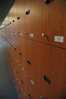Locker, Stadium, Wood