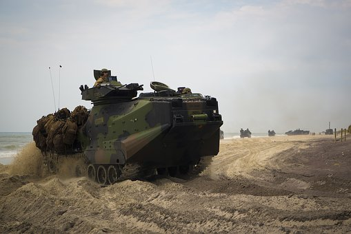 Aav-p7 A1, Amphibious Vehicle, Us Marines