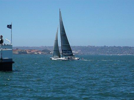 Sailboat, California, Water