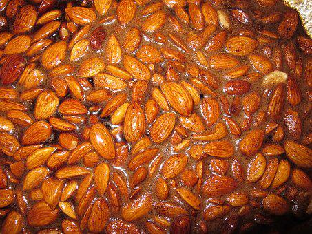 Almonds, Burnt Almonds, Nibble, Burned, Sweet