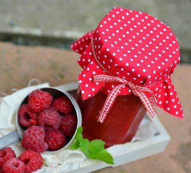 Jar Of Jam, Raspberries, Berries, Fruits, Fruit, Berry