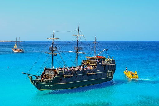 Cyprus, Cavo Greko, Cruise Ship, Boats, Tourism