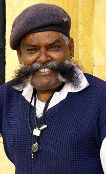 Mustache, Indian Man, Portrait, Pirate, Character