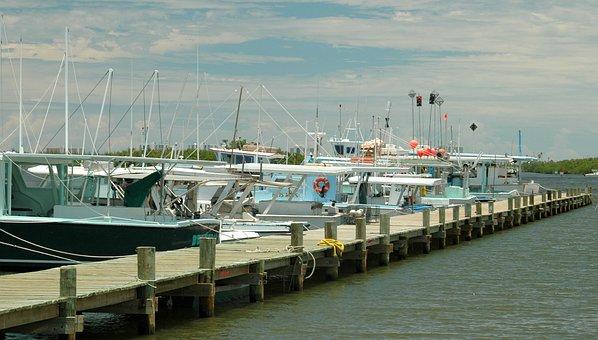 Commercial Fishing, Boat, Netter, Dock, Moored