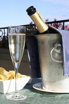 Champagne, Glass, Crisps, Celebration, Drink, Alcohol