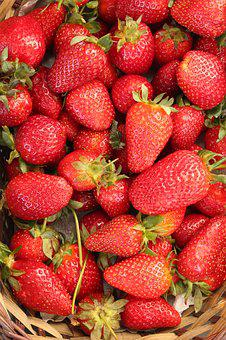 Strawberry, Red, Fruit