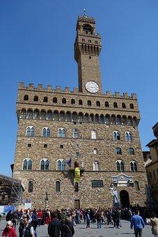 Florence, Palazzo Vecchio, Italy, Architecture, Travel