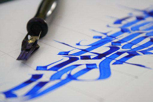 Calligraphy, Letter, Lettering, Design, Text, Card
