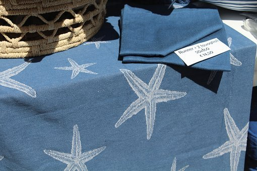 Cloth, Napkins, Star, Fabric, Sale, Showcase, Shop