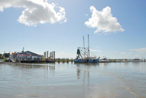 Shrimp Boat, Netter, Nets, Commercial Fishing