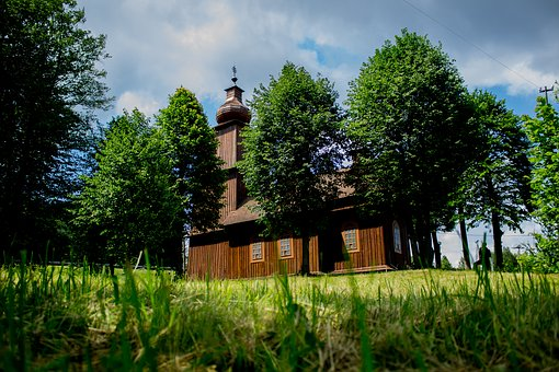 Wooden Church, Church, Tower, Wooden Roof, Architecture