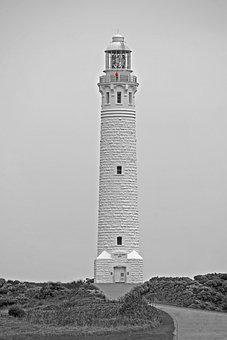 Lighthouse, Leeuwin, Black, White