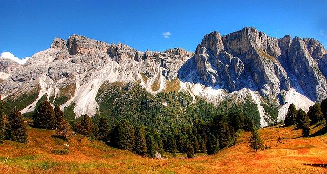 Dolomites, Monte Stevia, Mountains, Alm, Nature